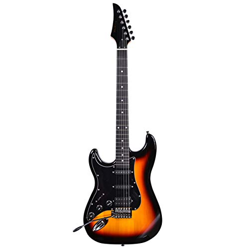 Kadence AstroMan Electric Guitar Left Handed, 21 FRETS, ROSEWOOD FRETBOARD, H - S - S PICK UPS Sunburst
