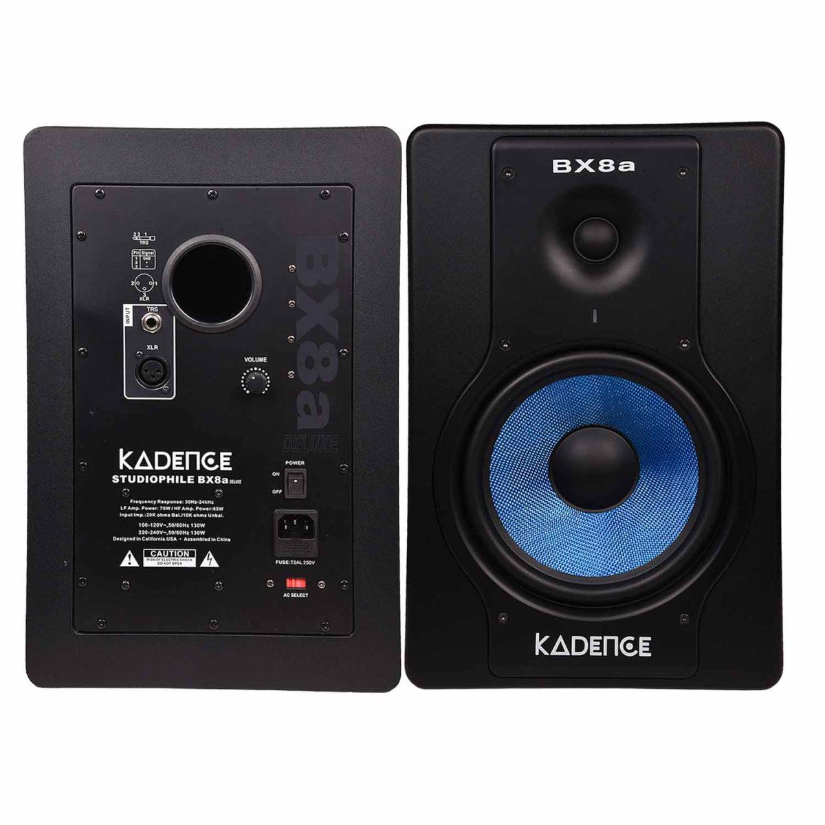 "Kadene BX8A 8"" 2-way near-field studio reference monitors"