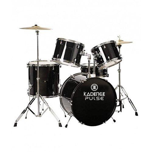 Kadence 5pc Drum Set Black With Hardward Cymbal without Throne