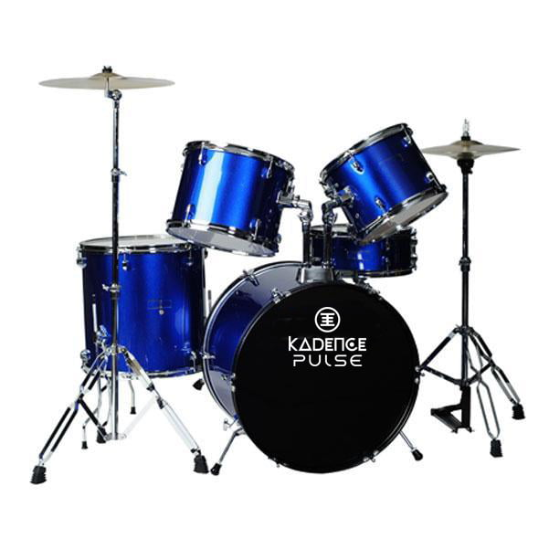 Kadence 5pc Drum Set Metelic Blue With Hardward Cymbal without Throne