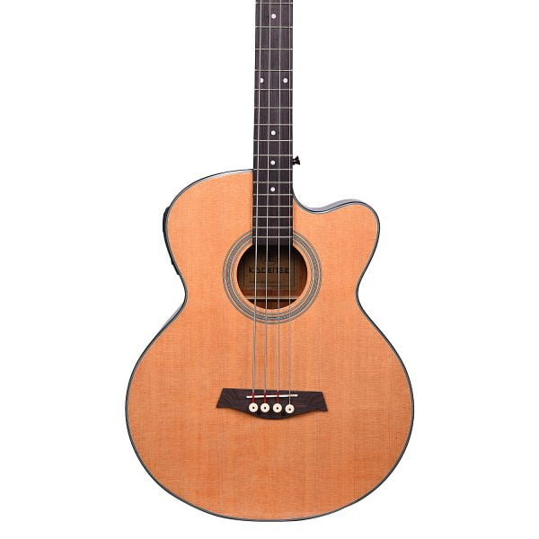 Kadence Chronicle Series Semi Acoustic Bass Guitar, Spruce Wood with EQ AB-01