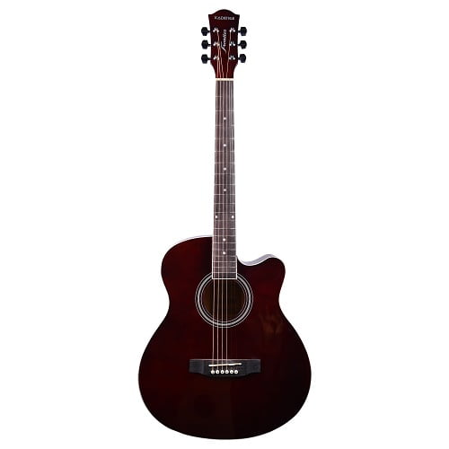 """Kadence Frontier 40"""" Acoustic Guitar FR01 BROWN With Bag"""