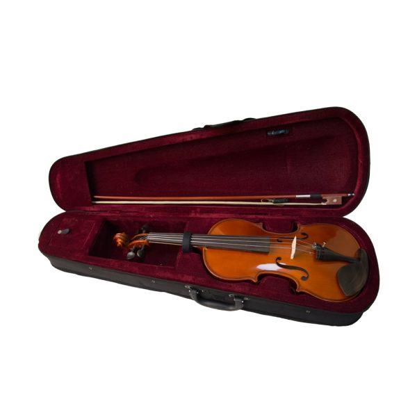 Kadence Vivaldi Violin VIV1001 Spruce Top, Flame Maple Black and Gloss Body
