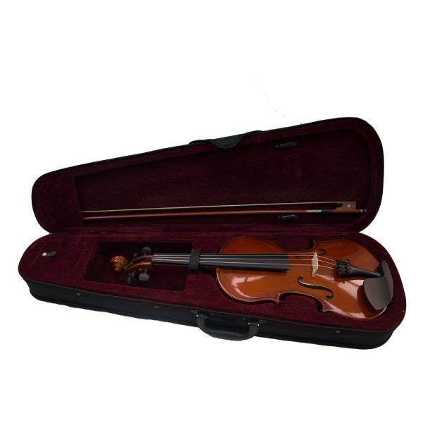 Kadence Vivaldi Violin VIV101 Solid Spruce Top, Maple Black and Gloss Body