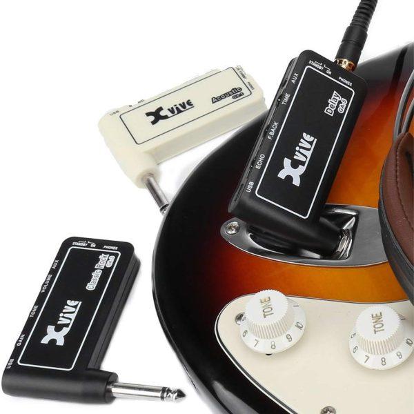 Xvive Headphone Delay Amplug Guitar Amplifier Mini Amp USB Charge GA-5