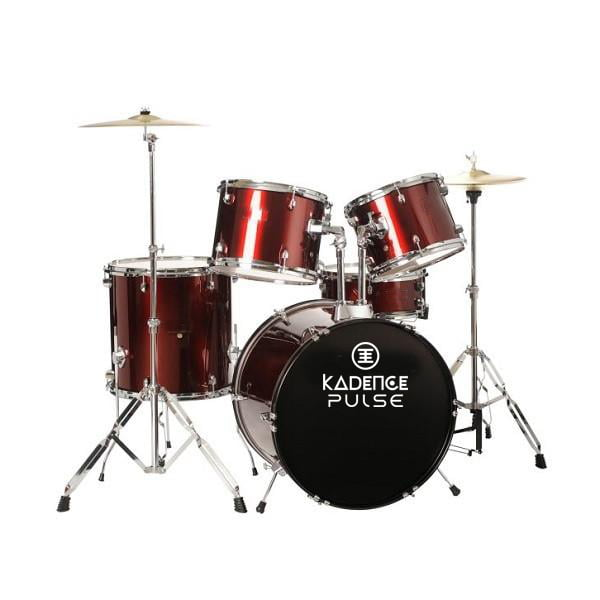 Kadence 5pc Drum Set Wine Red With Hardward Cymbal without Throne