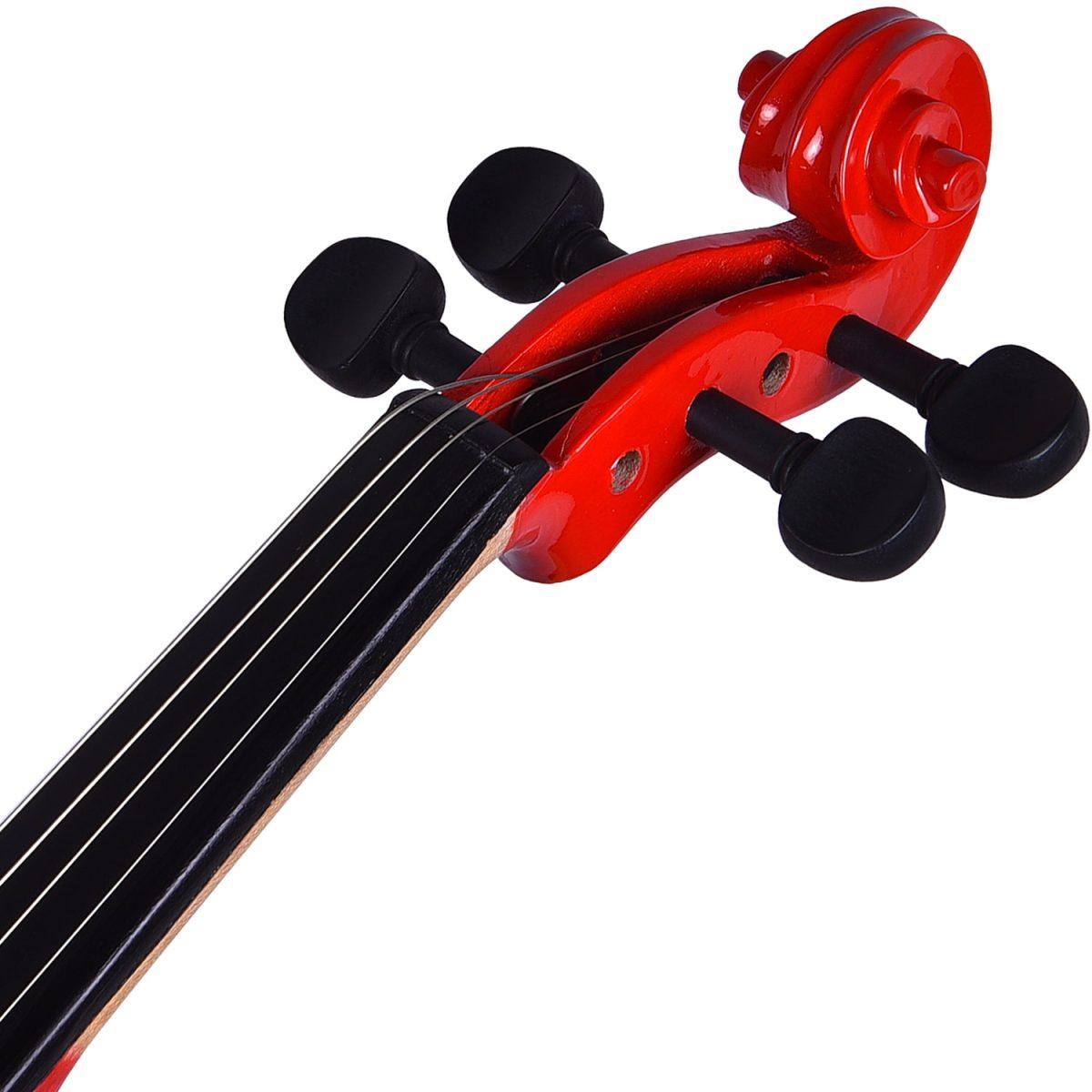 Kadence, Vivaldi 4/4 Violin With Bow, Rosin, Hard Case V-001R WINE RED